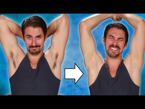 Guys Shave Their Armpits For The First Time