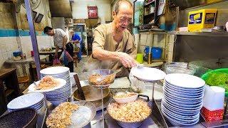 Ancient Thai Street Food - 90-Year Old Restaurant FISH RICE SOUP in Bangkok, Thailand!