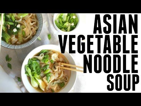 ASIAN VEGETABLE NOODLE SOUP | VEGAN + GF | This Savory Vegan