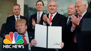 President Donald Trump: Israel Has 'Sovereign Right Over The Golan Heights'   NBC News