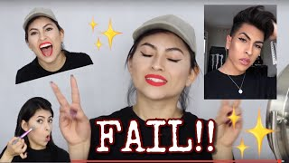 I Tried Following MY BROTHERS Makeup Tutorial !!