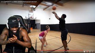 1v1 Basketball Against Female HOOP HOOPER & This Happened! FINESSED!