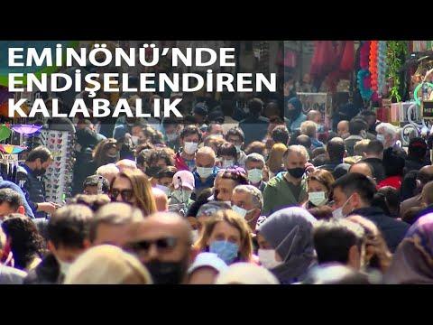 Eminönü'nde 'Kapanma Alışverişi' Yoğunluğu