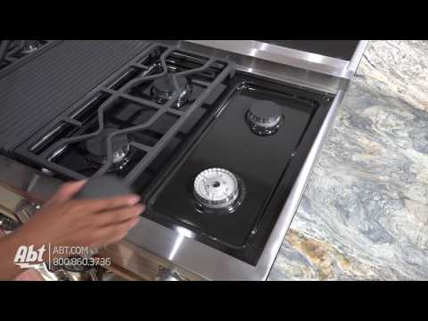 """Miele 48"""" Gas Stainless Steel Rangetop KMR1355G - Overview"""