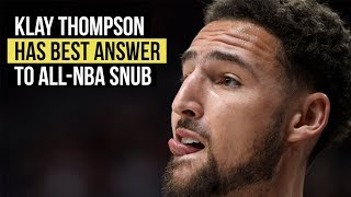 NBA playoffs: Klay Thompson has best one-word answer to all-NBA snub