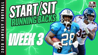 2020 Fantasy Football - Week 3 Running Backs - Start or Sit? Every Match Up