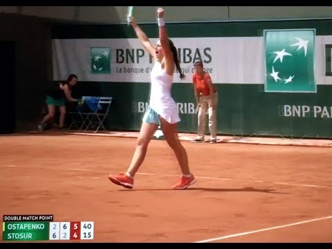 Jelena Ostapenko vs Samantha Stosur