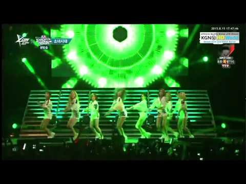 [HD] 150815 SNSD - Catch Me If You Can @ MCountdown KCON in NY