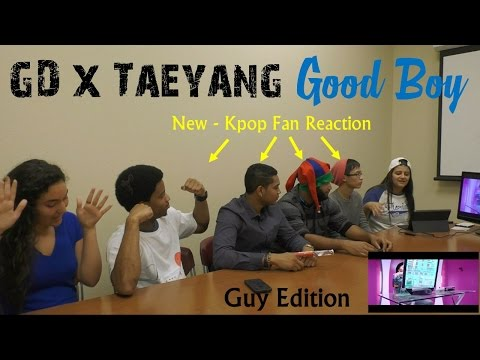 GD X TAEYANG - GOOD BOY - NEW KPOP Fan Reaction - Guy Edition