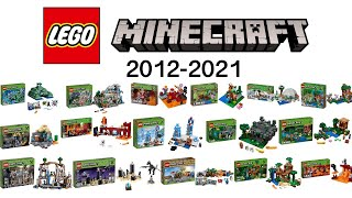 All LEGO Minecraft Sets from 2012 up to Spring 2021 Compilation of all Sets