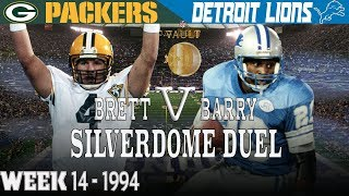 Barry & Brett Duel in the Silverdome (Packers vs. Lions, 1994) | NFL Vault Highlights
