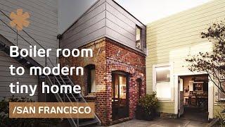 San Francisco brick boiler room turned industrial tiny house