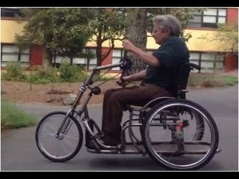 Wheelchair Handcycle Trike Test Ride July 2013