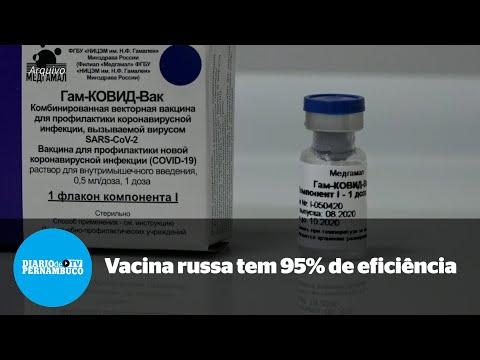 Vacina russa afirma ter 95% de eficiência