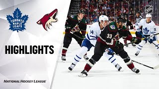 NHL Highlights | Maple Leafs @ Coyotes 11/21/19