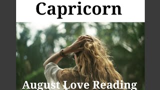 CAPRICORN - THE BREAKTROUGH AFTER A HEAVY PERIOD! - August Love Tarot Reading