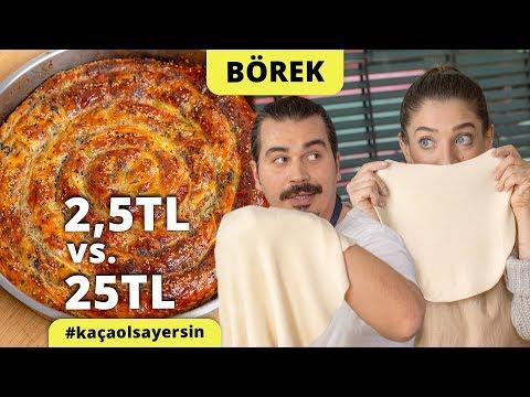 Şeflerimiz Yaptı: Porsiyonu 2,5 Liraya Börek vs. 25 Liraya Börek Tarifi #kaçaolsayersin