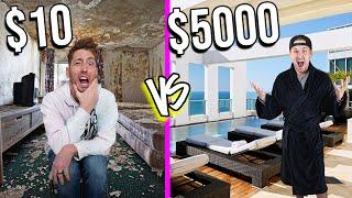 $10 VS $5,000 HOTELS! *Budget Challenge*