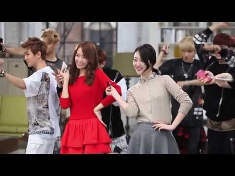 SNSD Yoona with fx Sulli and EXO SK Telecom CF Making Film