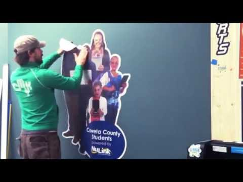Installing Photo Cutout Decals