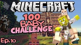 New Wife?! And of course, more babies.   Minecraft 100 Baby Challenge Ep.10
