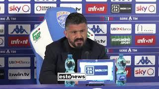 """Brescia-Napoli 1-2, Gattuso: """"Barcellona? Voglio cazzimma. Atteggiamenti Balo? É nato così"""""""