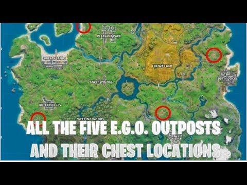 All the five E.G.O. outposts and their Chest locations | Fortnite Chapter 2 Week 5 Challenge