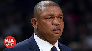 Doc Rivers calls out Eric Bledsoe's flop on Lou Williams in Clippers' loss | Golic and Wingo