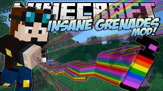 Minecraft | INSANE GRENADES MOD! (Rainbows, Black Holes, Floating Islands & More !) | Mod Showcase