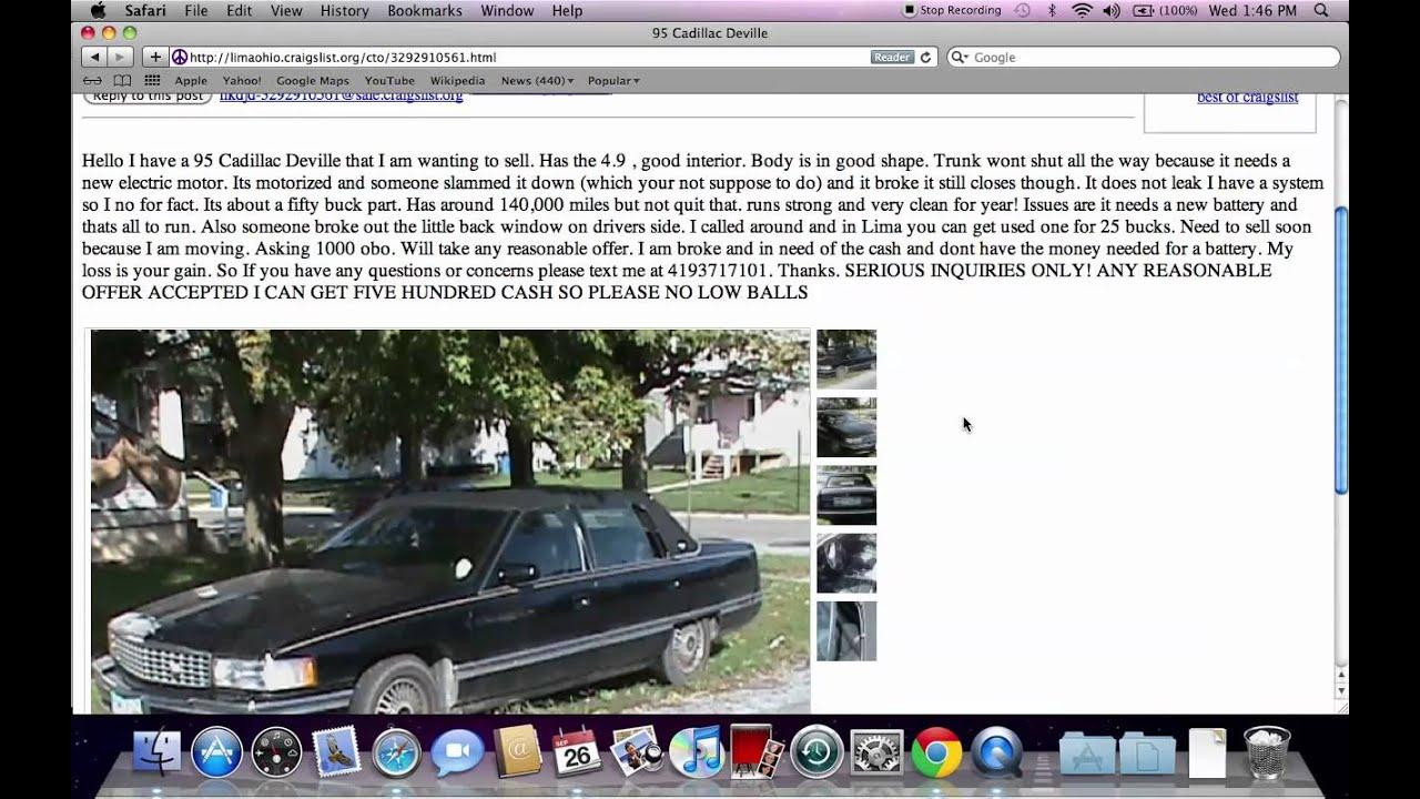 Craigslist Ohio Findlay Cars