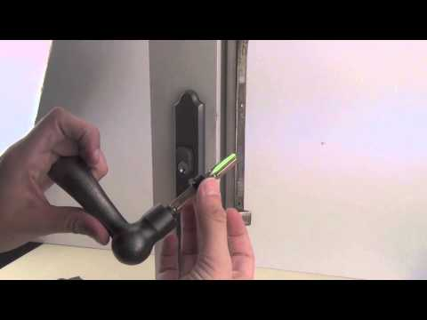 How to Replace a Dummy Cylinder in an Andersen Handle Set with a Keyed Cylinder