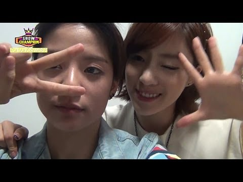 Show Champion BackStage - New MC, Eunjung & Amber, 새로운 MC 은정 & 엠버