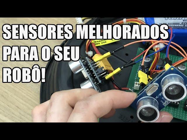 ROBÔ COM SENSORES MELHORADOS   Usina Robots US-3 #053