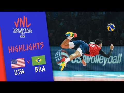 USA vs. BRAZIL - Highlights | Semi-Final | Volleyball Nations League 2019