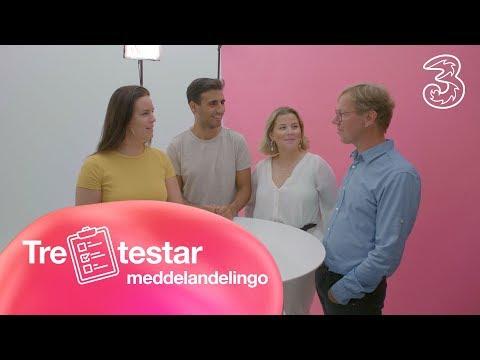 Tre testar meddelandelingo | Tre Sverige