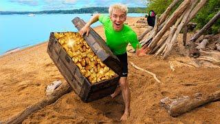 HIDDEN GOLD TREASURE FOUND on SECRET ISLAND!! *Worth Millions*