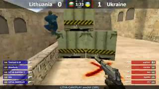 "Финал турнира по CS 1.6 команды ""Golden Team"" [Lithuania -vs- Ukraine] @ by kn1fe"