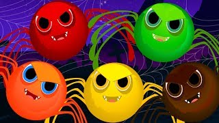 Five Scary Spiders | Scary Nursery Rhymes | Songs For Childrens | Video For Babies