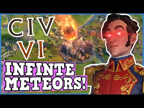 CIV 6 Is A Perfectly Balanced game WITH NO EXPLOITS - Gran Colombia Infinite Meteors Is Broken! #ad