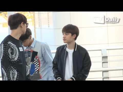 [tvdaily] ★엑소,EXO departure★ 특급경호 받으며 공항 등장...숨막히는 출국길