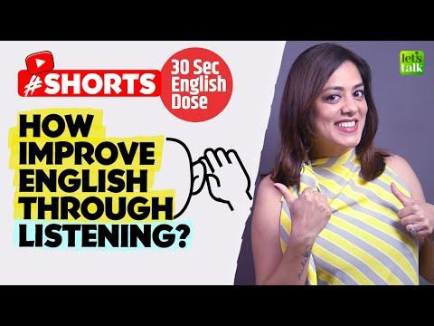 How To Improve English Speaking Through Listening? 👂 Spoken English Tips #shorts #youtubeshorts