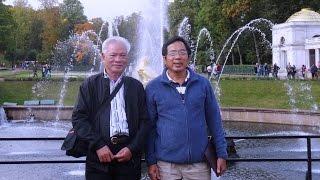 Anh Nguyễn Bá Mẫn thăm Cung điện Mùa hè & đi tàu trên sông Nêva