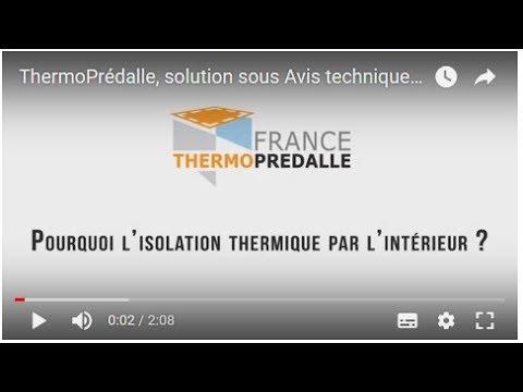 ThermoPrédalle, solution sous Avis technique du CSTB pour l'ITI