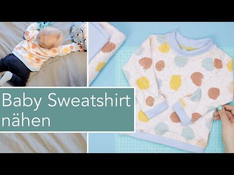 Baby Sweatshirt nähen mit Raglanärmeln | Little Darling