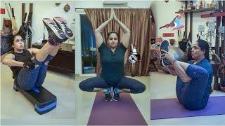 Tollywood actress Pragathi latest workout video goes viral..