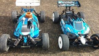 Nitro vs Electric - Rc Cars drag race