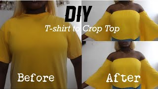 THRIFT FLIP | DIY FLARE CROP TOP - SUMMER TOP