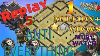 BEST UNDEFEATED TH9 WAR BASE WITH 5 REPLAYS ANTI EVERYTHING