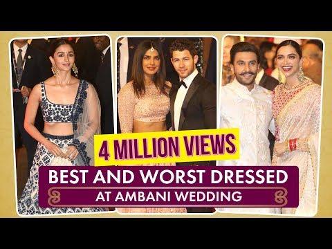 Priyanka Chopra, Deepika Padukone: Best and Worst Dressed at Ambani Wedding  Pinkvilla