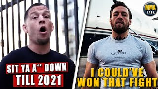 Nate Diaz FIRES BACK after Conor claims he could've won their 1st fight, Dana won't strip Jon Jones